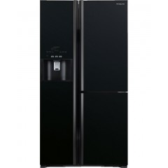Hitachi Refrigerator 3 Doors Side By Side 30 Feet Glass Black: R-10890GHT GBK