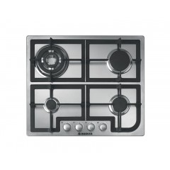 Hoover Built-In Hob Gas 60cm 4 Burners Stainless Steel: HGH64SQCX