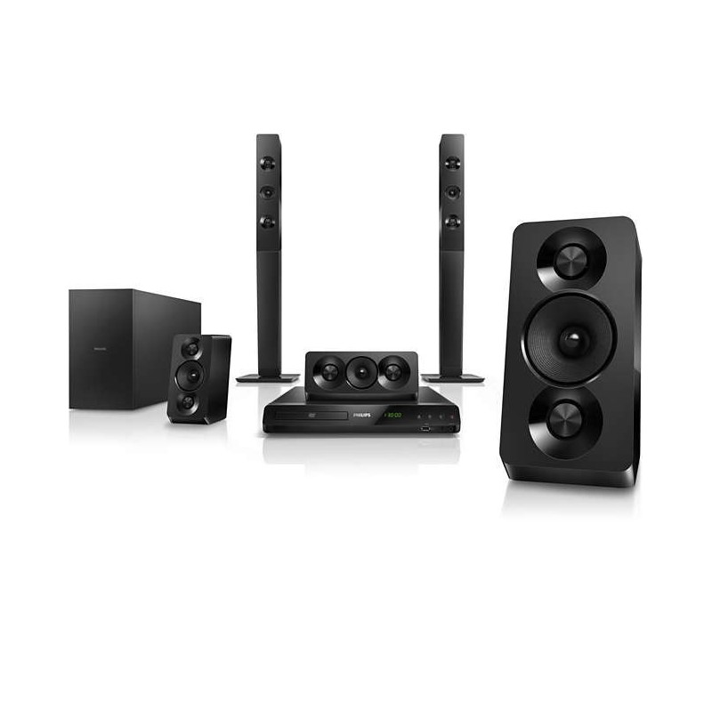Philips 5 1 dvd home theater double basspipes hdmi arc - Home cinema bluetooth ...