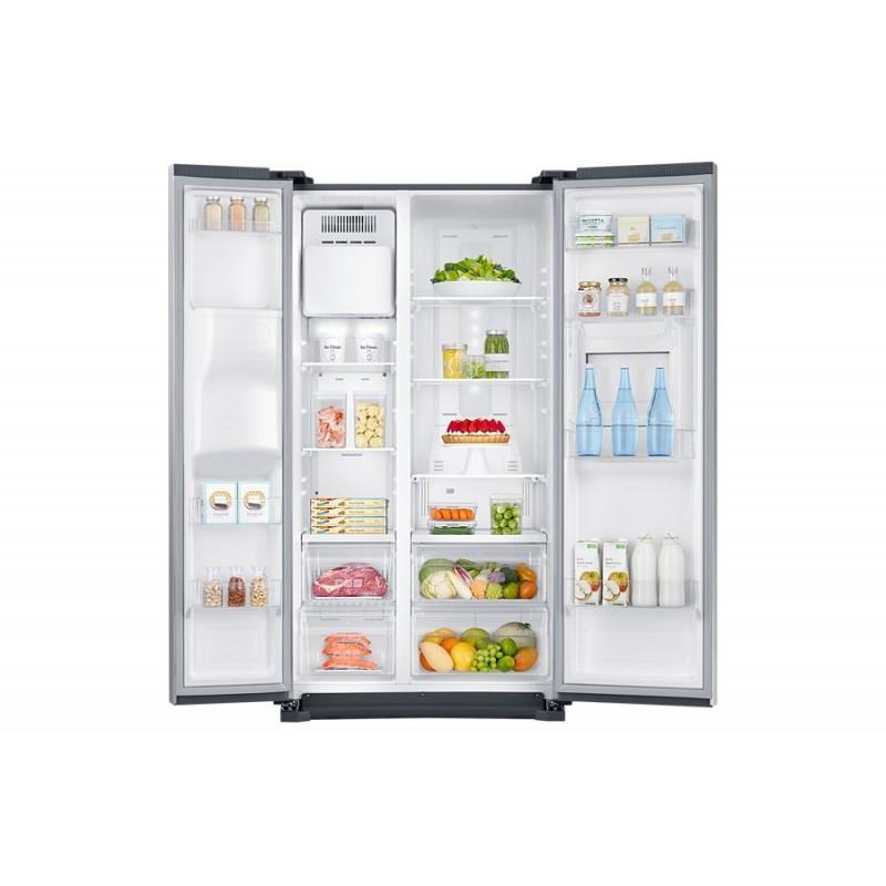 samsung refrigerator side by side 533 liter silver digital with dispenser rs53k4600 cairo. Black Bedroom Furniture Sets. Home Design Ideas