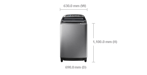 Samsung Washing Machine 18 Kg Topload Silver With Dualwash